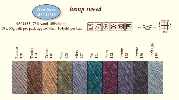 Hemp Tweed Shadecard