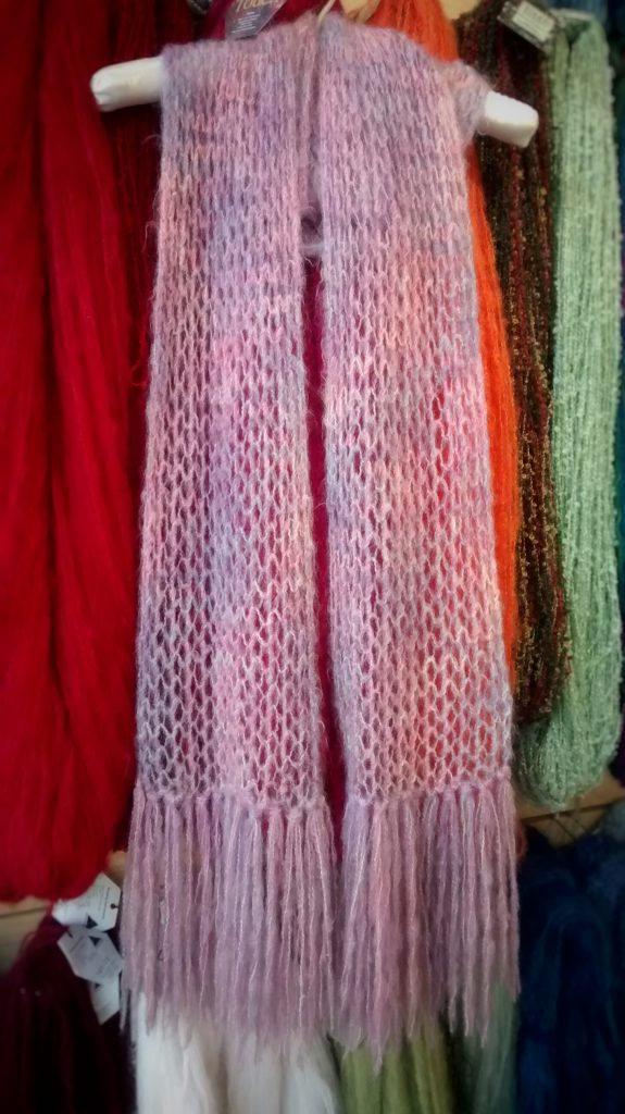 Free Knitting Pattern For Mohair Shawl : Free Patterns   Brushed Mohair Lace Scarf Spin a Yarn Devon