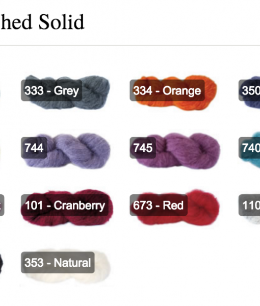 Touch Yarns Brushed Solid Shades