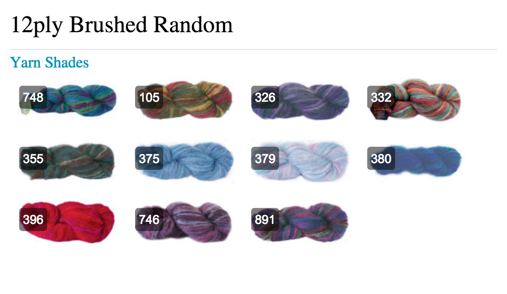 Touch Yarns Brushed Variegated Shades