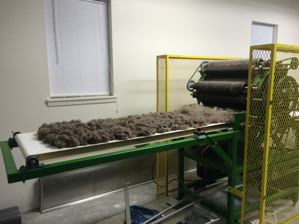 Arctic Qiviut being processed at their mill in Alaska