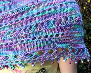 Close up of Mar Menor Shawlette