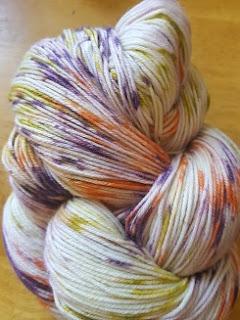 Lorna's Laces Splattershot style yarn