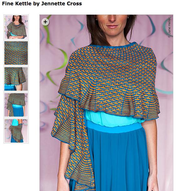 Fine Kettle shawl by Jennette Cross