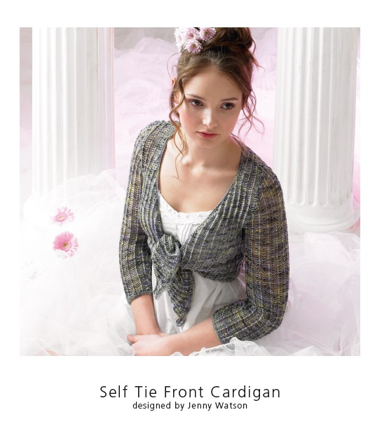 Botany Lace tie front cardi