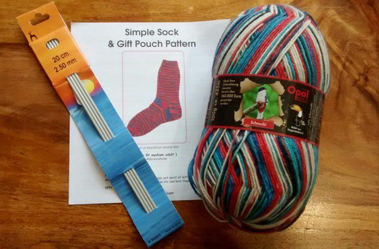 Sock knitting kit