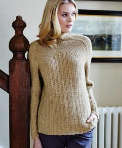 Debbie Bliss Cable Rib Sweater