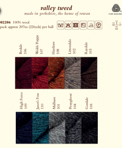 Valley Tweed shade card 1718