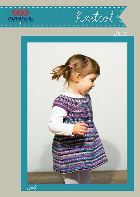 Adriafil Knitcol Girls Dress 1548